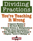 Dividing Fractions: You're Teaching It Wrong - 6, NOW 7! E