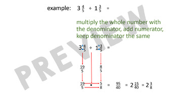 Dividing Fractions and Mixed Numbers - 6.NS.1