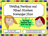 Dividing Fractions and Mixed Numbers Scavenger Hunt Activity
