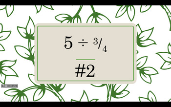 Dividing Fractions and Mixed Numbers Scoot Task Cards