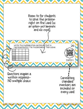 Dividing Fractions and Whole Numbers  QR Task Cards - 5NFB7-
