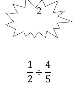Dividing Fractions by Fraction Scavenger Hunt