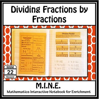 Dividing Fractions by Fractions Notes and Activity