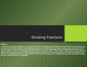Dividing Fractions by Fractions Notes and Lesson