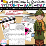 Dividing Fractions by Fractions-Sketch-It & Save-Case of C