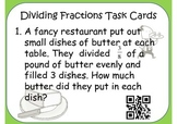 Dividing Fractions by Fractions Task Cards