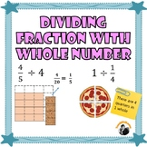 Dividing Fractions by Whole Number and Whole Number by Fractions