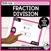 Dividing Fractions by Whole Numbers   Boom Cards Distance