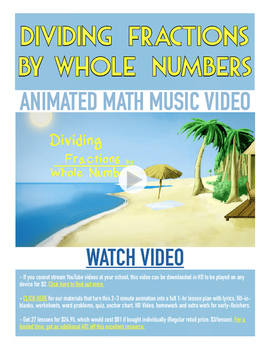 Dividing Fractions by Whole Numbers | FREE Printable Poster &  Fun Video |