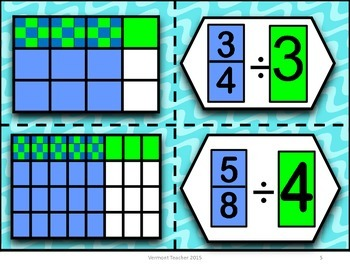 6.NS.A.1 Dividing Fractions by Whole Numbers  Matching Activity