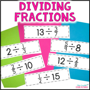 Dividing Fractions Differentiated Around the Room!