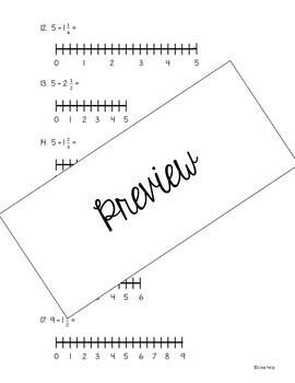 Dividing Fractions using Number Line Models