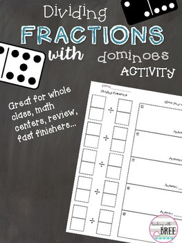 Dividing Fractions with Dominoes Activity