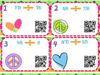 Dividing Fractions with QR Codes