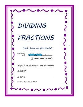 Dividing Fractions with Visual Fraction Bar Models