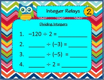 Dividing Integer Relays