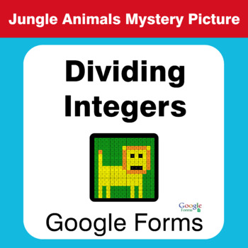 Dividing Integers - Animals Mystery Picture - Google Forms