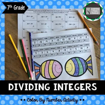 Dividing Integers Color By Number Activity 7.NS.A.2