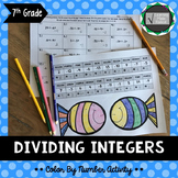Dividing Integers Color By Number Activity