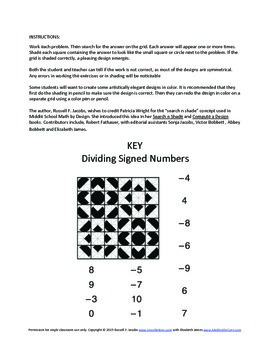 Dividing Integers Coloring Search and Shade