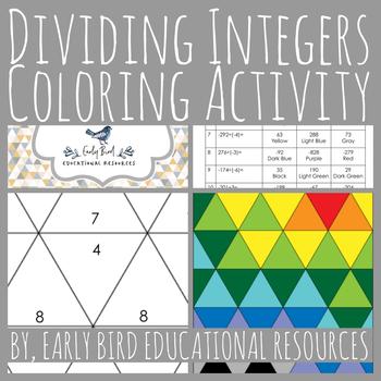 Dividing Integers Coloring Activity