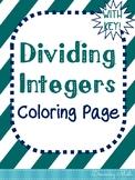 Dividing Integers Coloring Page