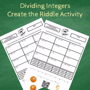 Dividing Integers Create the Riddle Activity