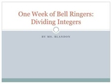 Dividing Integers Daily Bell Ringers (can also be used for