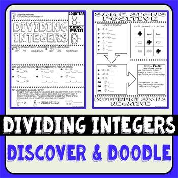 Dividing Integers Doodle Notes