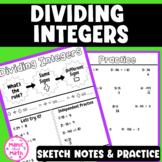 Dividing Integers Sketch Notes