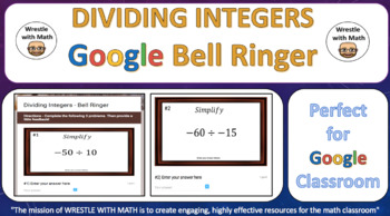 Dividing Integers – Google Bell Ringer with Student Feedback Option