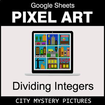 Dividing Integers - Google Sheets Pixel Art - City