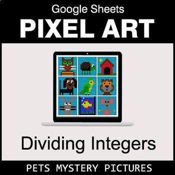 Dividing Integers - Google Sheets Pixel Art - Pets