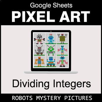 Dividing Integers - Google Sheets Pixel Art - Robots