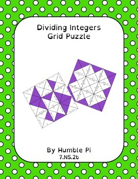 Dividing Integers Grid Puzzle- 7.NS.2b