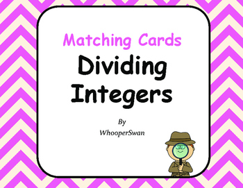 Dividing Integers Matching Cards