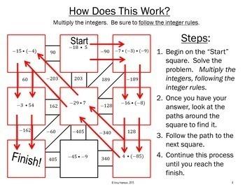 Dividing Integers Maze + Bonus Mini Maze
