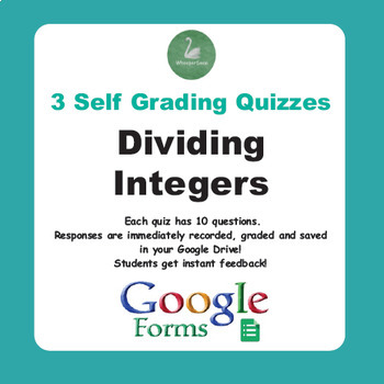 Dividing Integers Quiz  (Google Forms)