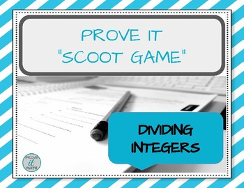 Dividing Integers Scoot Game