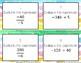 Dividing Integers Task Cards