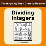 Thanksgiving Math: Dividing Integers - Math & Art - Draw b