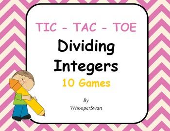 Dividing Integers Tic-Tac-Toe
