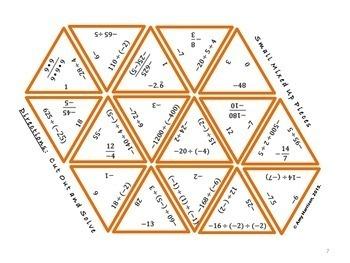 Dividing Integers Triangle Puzzle
