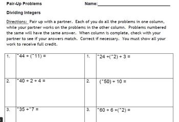Dividing Integers with a Partner