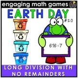 Earth Day Math Game - Long Division No Remainders