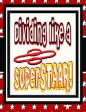 Dividing Like a SuperSTAAR!- Problem Solving Task Cards Division