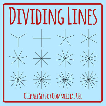 Dividing Lines Template Clip Art Set for Commercial Use
