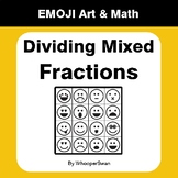 Dividing Mixed Fractions - Emoji Art & Math - Draw by Number | Coloring Pages