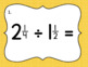 Dividing Mixed Number Fractions - Set of 20 Task Cards