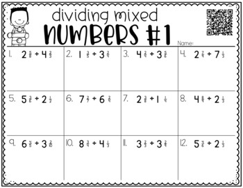 Dividing Mixed Numbers {a Problem of the Day Intervention}